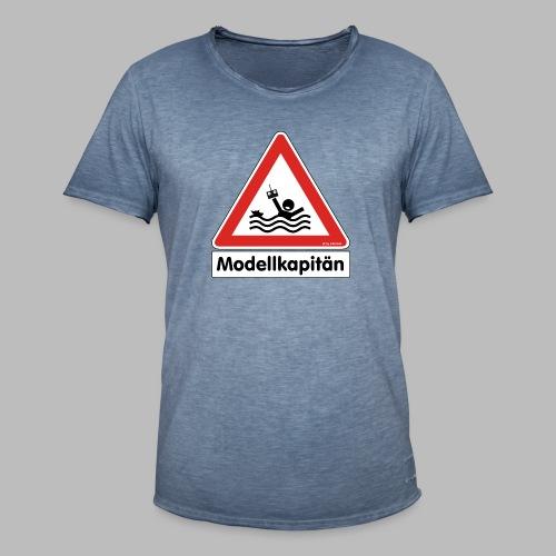Warnschild Modellkapitän - Männer Vintage T-Shirt