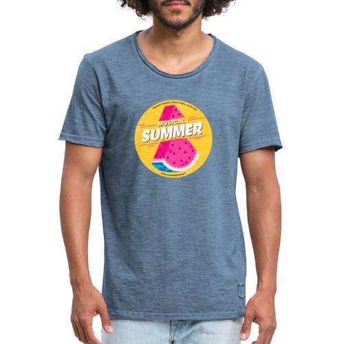 Musical Summer - Maglietta vintage da uomo
