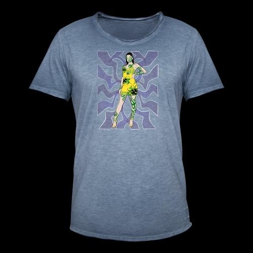 Motif Girl - T-shirt vintage Homme