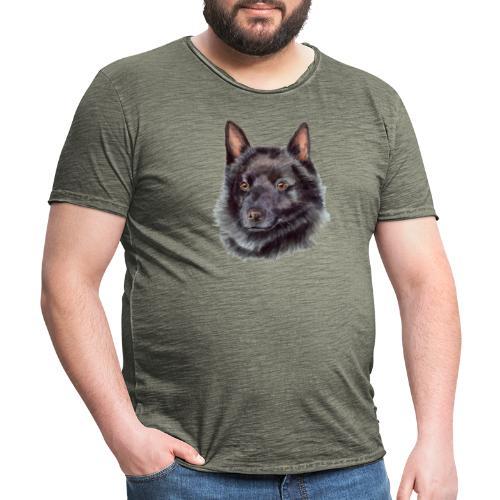 schipperke - M - Herre vintage T-shirt