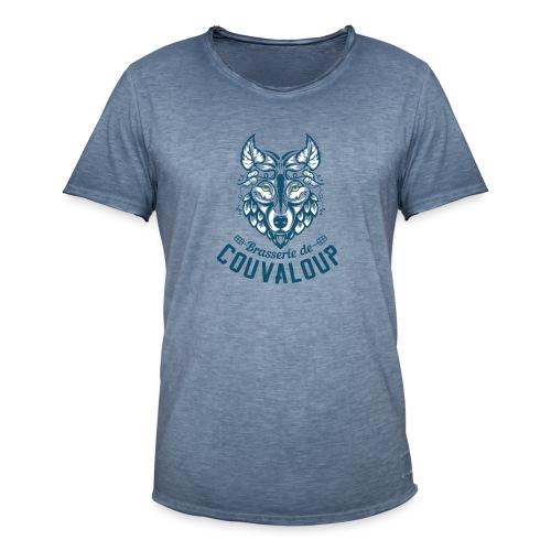 Original Blue Logo - T-shirt vintage Homme