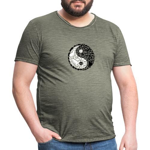 YinYang Cats - Männer Vintage T-Shirt