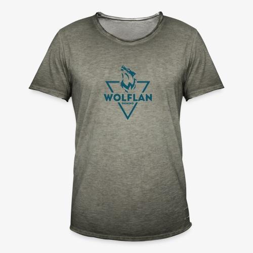 WolfLAN Logo Gray/Blue - Men's Vintage T-Shirt