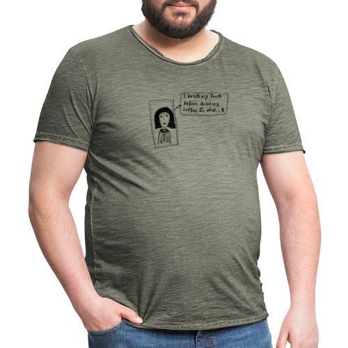 Coffee - Männer Vintage T-Shirt