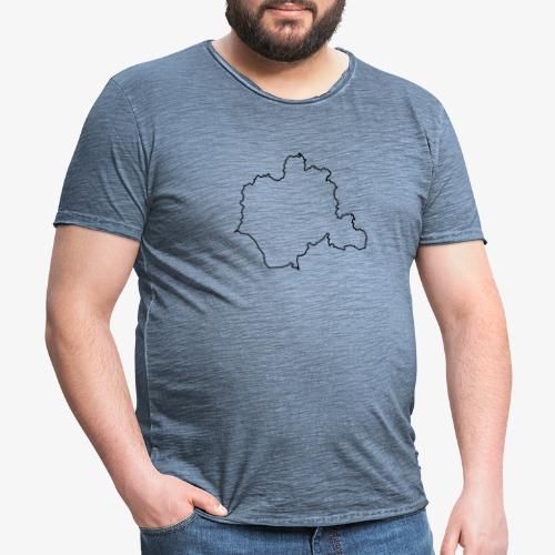 Kontur des Kreises Lippe - Männer Vintage T-Shirt