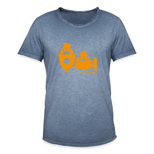 BASSET LOGO orange - T-shirt vintage Homme