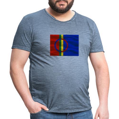 Sapmi flag - Vintage-T-skjorte for menn