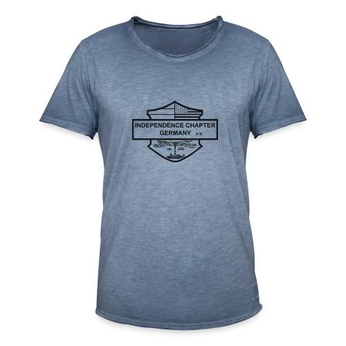 Indis Logo schwarz - Männer Vintage T-Shirt