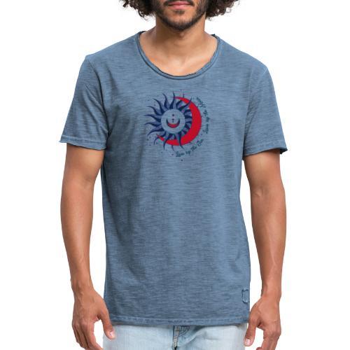 Sonne Mond Design Live by the sun Love by the moon - Männer Vintage T-Shirt