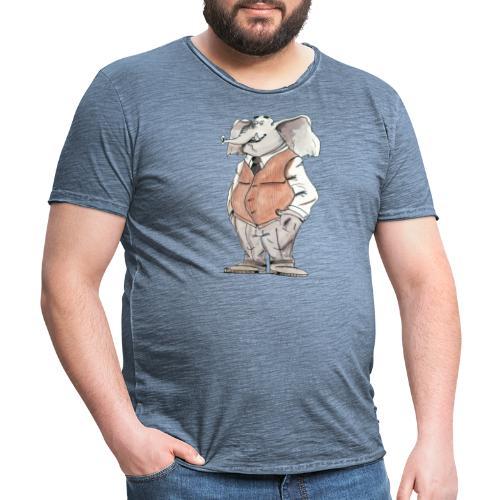 elephant Bd aquarelle caricature homme - T-shirt vintage Homme