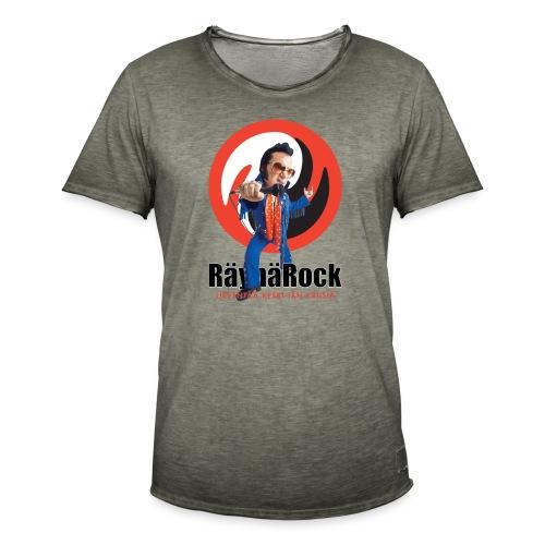 Räyhärock valkoinen - Miesten vintage t-paita