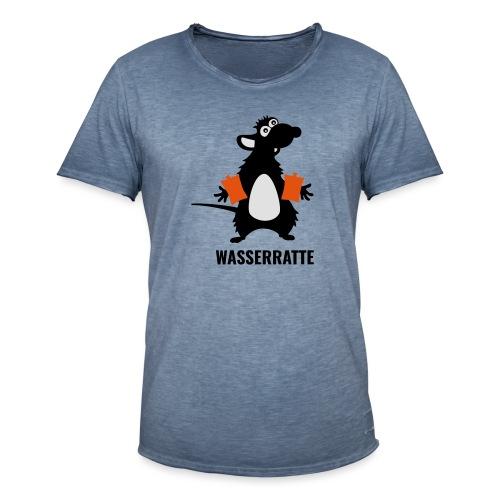 Wasserratte mit Schwimmflügeln - Männer Vintage T-Shirt
