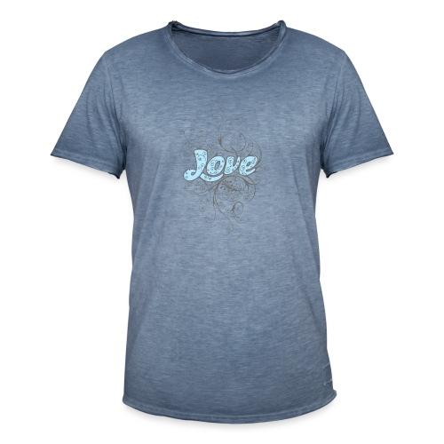 LOVE CON DECORI - Maglietta vintage da uomo