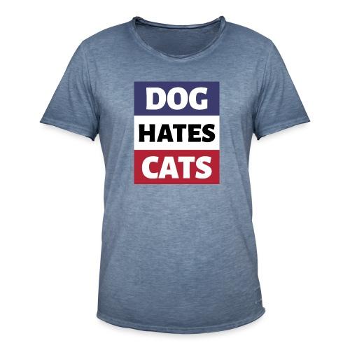 Dog Hates Cats - Männer Vintage T-Shirt