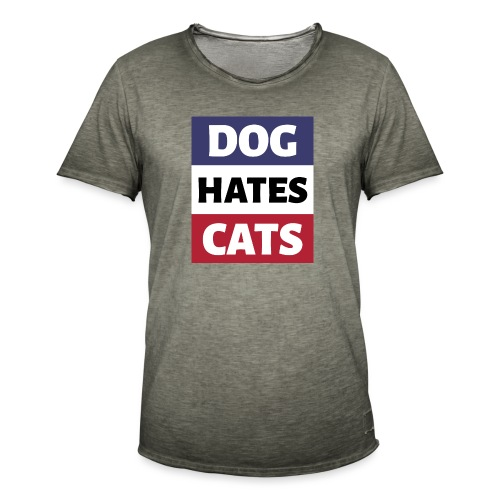 Dog Hates Cats - Männer Vintage T-Shirt