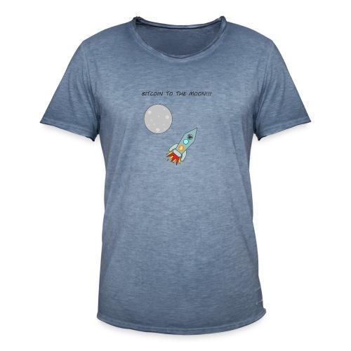 Bitcoin To The Moon T-Shirt - Men's Vintage T-Shirt