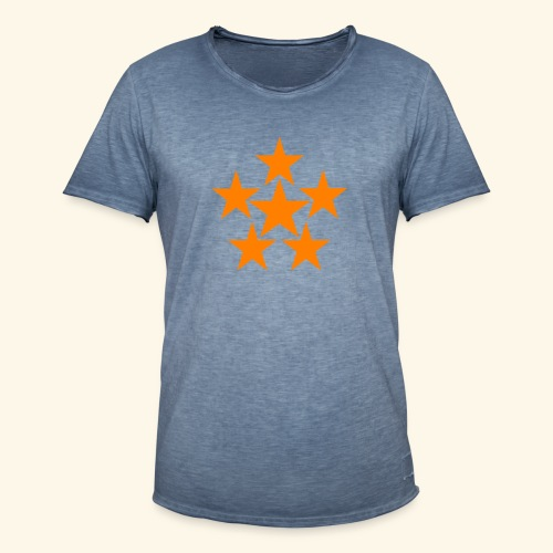 5 STAR orange - Männer Vintage T-Shirt