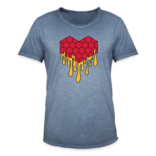 Honey heart cuore miele radeo - Maglietta vintage da uomo