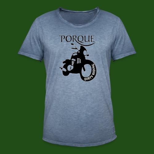 Porque Racer - Maglietta vintage da uomo