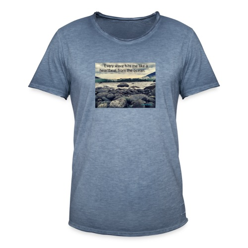 Oceanheart - Vintage-T-skjorte for menn