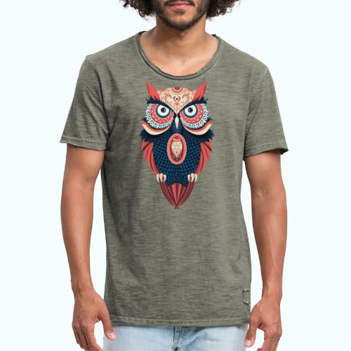 Hippie owl - Men's Vintage T-Shirt