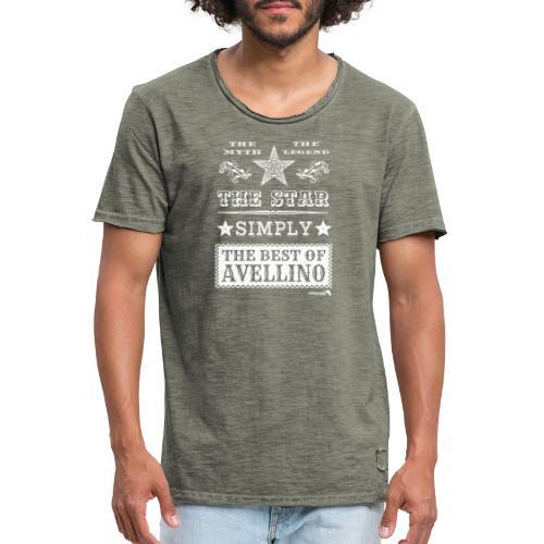 1,03 The Star Legend Avellino Bianco - Maglietta vintage da uomo