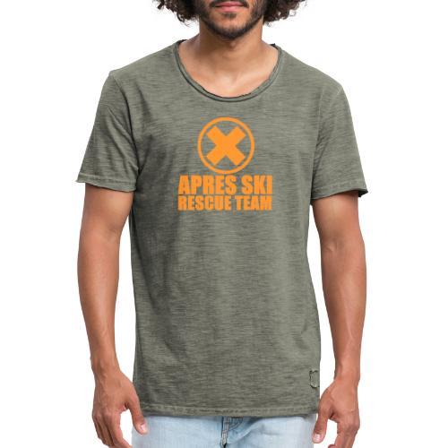 APRES SKI RESCUE TEAM - Mannen Vintage T-shirt
