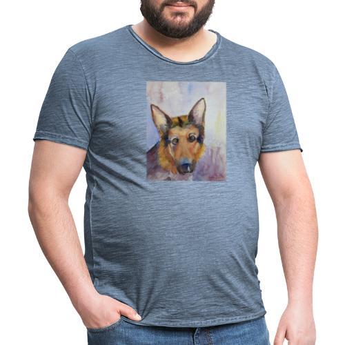 german shepherd wc - Herre vintage T-shirt