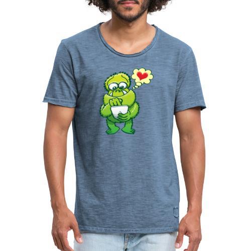 Ugly monster seeking love on the Internet - Men's Vintage T-Shirt
