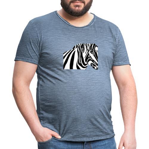 zebra - T-shirt vintage Homme