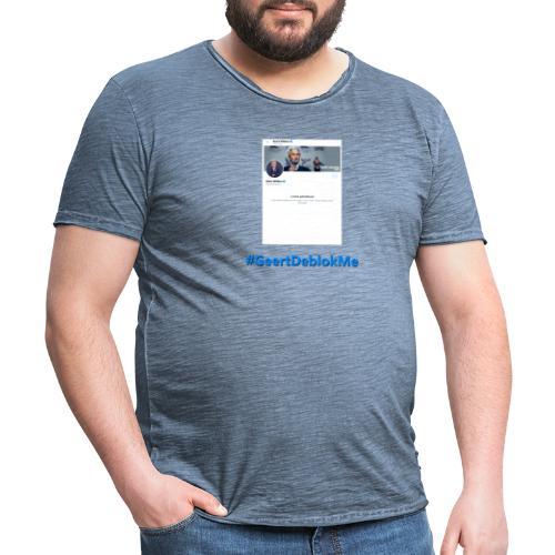 #GeertDeblokMe - Mannen Vintage T-shirt