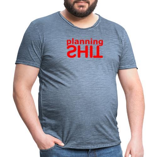 PLANNING - Camiseta vintage hombre