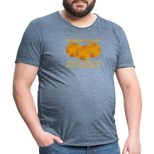 Goldene Schallplatte - Männer Vintage T-Shirt