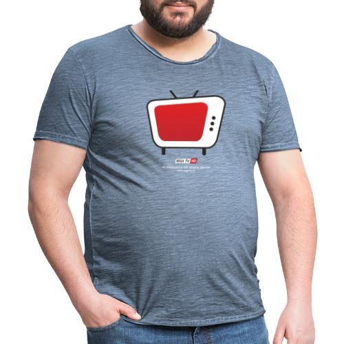 REGA-TV: Bildschirm, Schrift Weiss - Männer Vintage T-Shirt