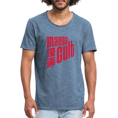 Manga Cult Logo Rot - Männer Vintage T-Shirt