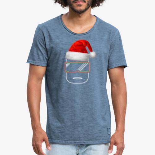 Die Zock Stube - Robot-Head Christmas - Männer Vintage T-Shirt