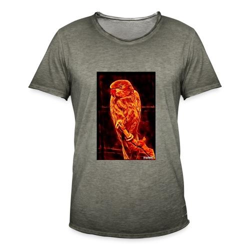 Bird in flames - Miesten vintage t-paita
