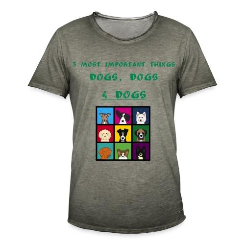 3 most important things - - Miesten vintage t-paita
