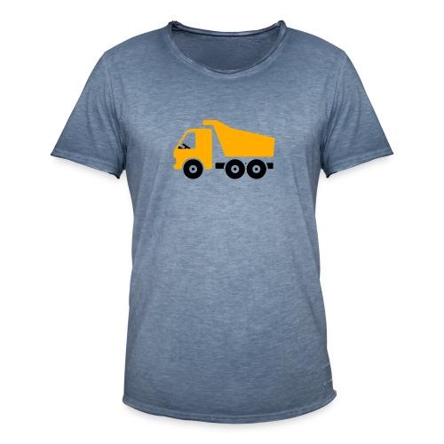 Baustellenfahrzeug Comic - Männer Vintage T-Shirt