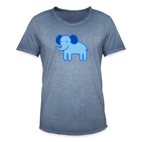 Kinder Comic - Elefant - Männer Vintage T-Shirt