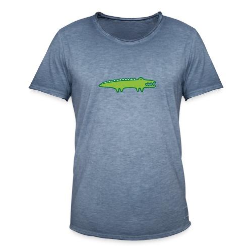 Kinder Comic - Krokodil - Männer Vintage T-Shirt