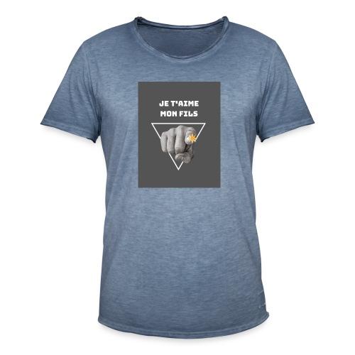 Je t'aime mon fils - T-shirt vintage Homme