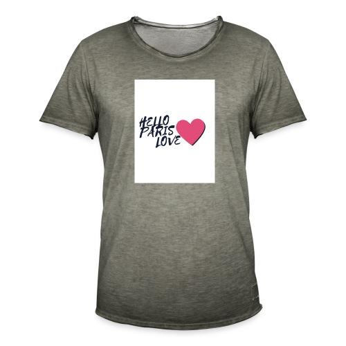 hello paris love 2 - T-shirt vintage Homme