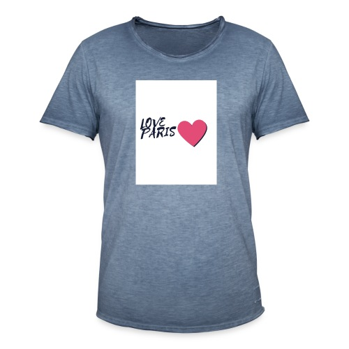 love paris 2 - T-shirt vintage Homme