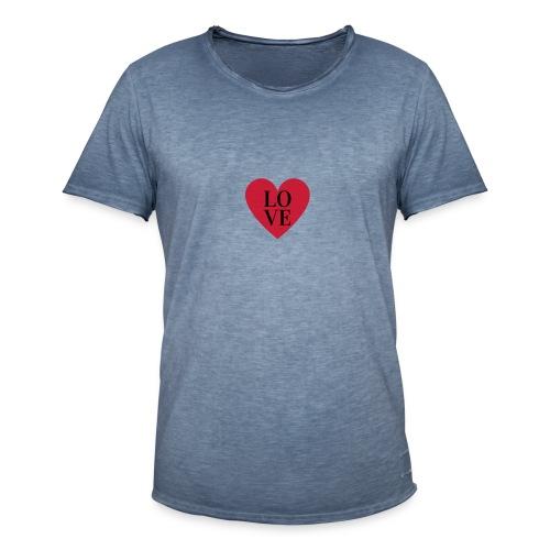 love love - T-shirt vintage Homme