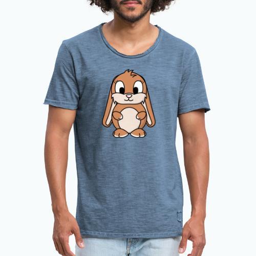 Lily Bunny - Appelsin - Vintage-T-shirt herr