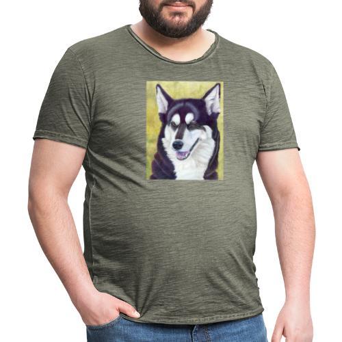 Siberian husky - Herre vintage T-shirt