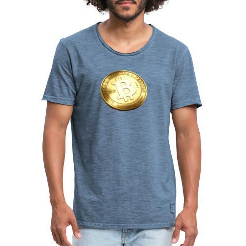 Bitcoin - Vintage-T-shirt herr