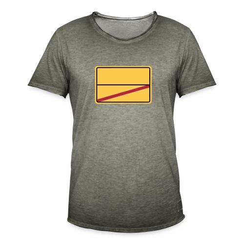 Ortsschild Ende - blanko - Männer Vintage T-Shirt