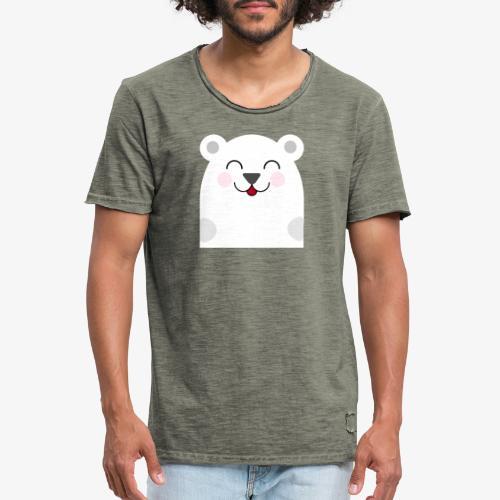 Oso kawaii - Camiseta vintage hombre